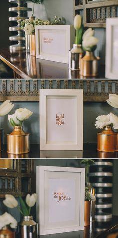 framed signage