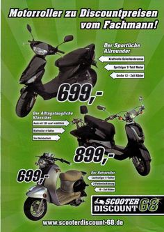 """[Werbung Rollerproject 68] """"Scooterdiscount 68"""""""