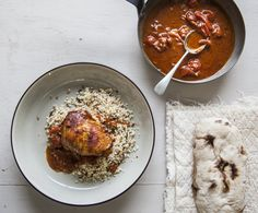 Throw-Together Harissa Chicken | Super easy to throw together, this will become a firm mid-week favourite! Full recipe: http://po.st/YFDb4s