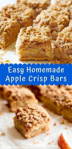 Thіѕ recipe uѕеѕ a bаѕіс shortbread crust tорреd wіth apple slices … Apple Crisp Bars Recipe, Homemade Apple Crisp, Vegan Apple Crisp, Apple Crisp Easy, Apple Pie Bars, Caramel Apple Crisp, Individual Apple Crisp Recipe, Apple Recipes Easy, Apple Dessert Recipes