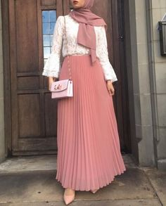 Hijab Fashion | Nuriyah O. Martinez | Pleated maxi skirts for woman – Just Trendy Girls