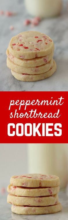 Buttery, rich peppermint shortbread cookies that everyone in your family will love. Easy preparation -- slice and bake! Get the easy recipe that's perfect for Christmas cookie exchanges! Easy Cookie Recipes, Cookie Desserts, Holiday Baking, Christmas Desserts, Christmas Baking, Easy Desserts, Baking Recipes, Dessert Recipes, Christmas Cookies