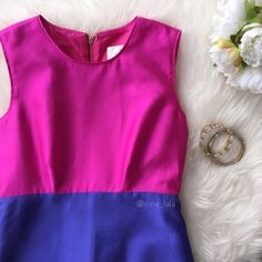 """NWT Kate Spade Purple Blakely Silk Blend Dress NWT Kate Spade Purple Blakely Silk Blend Dress -Such a fun dress for a wedding or any special occasion.Bright colored and figure flattering! Colors: """"Vivid Snapdragon"""" and """"Perfect Purple"""". Gold hardware/zipper. Pockets at sides. -33"""" from shoulder to hem. 13"""" waist. 20"""" zipper at back. -73% Silk, 27% Cotton. Polyester lining. Dry clean. -Has some pulls (pictured), they aren't """"flaws"""" but rather the nature of this fabric! : lyst.com…"""