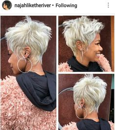 Gray Wigs African Americans Black And Grey Wig Short White Cosplay Wig - Short hair cuts - Gray Wigs African Americans Black A. Short Grey Hair, Grey Wig, Short Hair Wigs, Short Hair Cuts For Women, Funky Short Hair, Short Pixie, Short Cuts, Funky Hairstyles, Wig Hairstyles