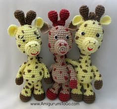 Little Bigfoot Giraffe - Free Amigurumi Pattern  http://www.amigurumitogo.com/2014/05/amigurumi-giraffe-crochet-pattern-free.html