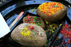 melted crayon paperweights