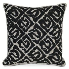 Penthouse Ambiance. No more dreaming of big-city living and designer décor. This Sequins decorative pillow is all glam with its modern black and cream pattern trimmed in black sequins.