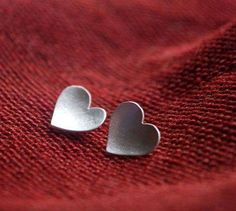 simple love heart sterling silver (READY TO MAIL) - stud earrings Heart Shaped Earrings, Stud Earrings, Red And Grey, Gray, Bridesmaid Jewelry, Be My Valentine, Love Heart, Crazy Heart, Dreams