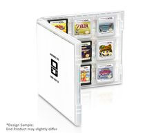 Nintendo 3DS Game Card Case: 2015 Edition | Club Nintendo **  Carry your Nintendo 3DS™ and Nintendo DS™ games in style with this sleek card case, shaped like a game box. Includes three double-sided covers, featuring artwork themed around The Legend of Zelda™, Super Mario™, and the Nintendo 3DS system. ** Plastic case holds 18 Nintendo 3DS, New Nintendo 3DS XL, or Nintendo DS Game Cards ** Dimensions: approx. 5in x 5in x 0.6 in ** Three double-sided card covers included inside **