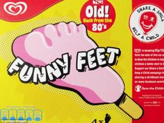 Walls Funny Feet back in shops! Hope Banjo bar gets re-issued too! #BringBackBanjoChocolateBar #Nostalgia