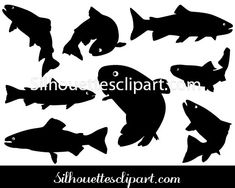 Trout is the common name for a number of species of freshwater fish. Trout Silhouette Vector is an ideal vector for water and fish related designs. Fish Silhouette, Silhouette Vector, Fish Graphic, Jewel Of The Seas, Fish Vector, Silver Ring Designs, Trout, Vector Graphics, Vector Design