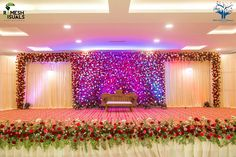 Consider this important graphic and also browse through the here and now suggestions on Fall Wedding Party wedding hall decorations Reception Stage Decor, Wedding Stage Design, Wedding Hall Decorations, Wedding Reception Backdrop, Marriage Decoration, Engagement Decorations, Wedding Mandap, Wedding Wall, Fall Wedding
