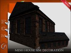 Mesh House Sim Decoration Full perm  44 impact