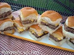 Homemade White Castle Sliders - dried onions and burger baked in the oven then cut in slices!