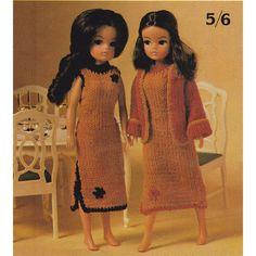 Vintage Sindy Doll Knitting Pattern Dress & Jacket Set 11 Inch Dolls Barbie PDF