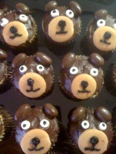 Baylor Bear Cupcakes