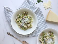 """""""This Dietitian-Approved Turnip Tagliatelle with Chicken & Herb Sauce is a Guilt-Free Treat! Turnip Cake, Easy Weekday Meals, How To Cook Chicken, Pasta Recipes, Tasty, Herbs, Dishes, Cooking, Ethnic Recipes"""