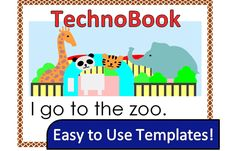 TECHNOBOOK: Create simple books using Microsoft Word. Activities are perfect for primary students.