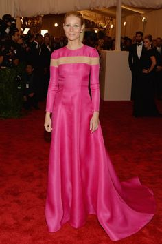 Gwyneth Paltrow picked a pink Valentino gown for the Met Gala!