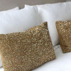 Love these glitter pillows!