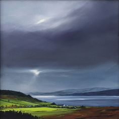 Machrie by Scottish contemporary landscape painter J Mackintosh Isle Of Arran, Contemporary Landscape, Garden Landscaping, How To Look Better, Watercolor, Mountains, Travel, Art Paintings, Gardening