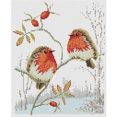 Winter Robins Cross Stitch Pattern | Lucie Heaton Cross Stitch Designs