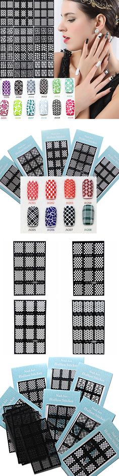 20 Designs Choice 3D Magical Printing Decals Stencil Nail Art Tools Hollow Drawing Stickers For Nails UV Gel Polish Use JH306