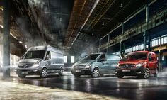 Whether courier service or transporting a company's own freight. Mercedes-Benz Vans are always involved in tasks depending on reliability and durability.