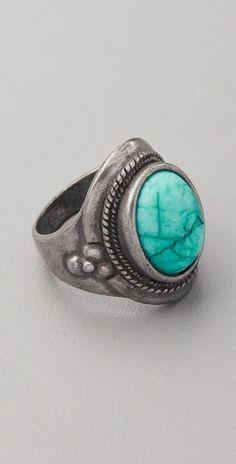 club monaco trisha turquoise ring