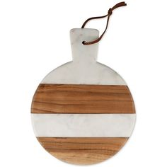 Thirstystone Marble & Wood Striped Round Paddleboard ($28) ❤ liked on Polyvore featuring home, kitchen & dining and thirstystone
