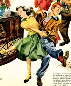 vintage swing dance 1948 advertisement