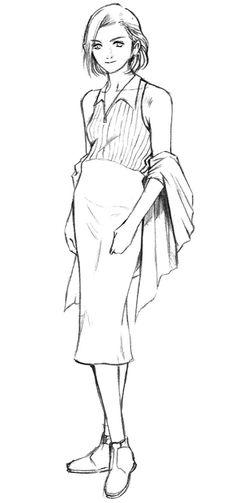 Week 8 - Final Fantasy VIII - Concept Art Mon - Ellone