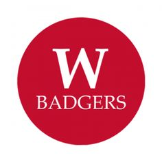 """University of Wisconsin 1-1/2"""" Round Labels - Free Shipping. Use these semi-gloss circle labels to seal envelopes or as an eye catching touch to demonstration your school pride."""
