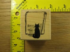 JAZZY CAT WITH SHEET MUSIC BY STAMPABILITIES Rubber Stamp #3084