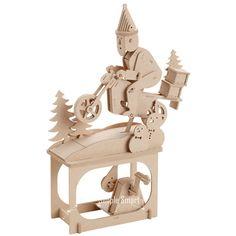 3D Wooden Puzzle Moving Model Kit DIY Moving Mechanical Wooden Automata Santa…