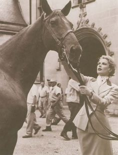 Princess Grace Kelly, American actress who at the age of 27 married Rainier III, Prince of Monaco. One of her daughters, most well known in the equestrian world is Charlotte Casiraghi, showjumper and the face of the Gucci equestrian line.