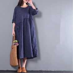 65078a32ff505d Fashion Women Blue Gradient Double Layer Maxi Sundress Cotton Linen Summer  Sleeveless Dresses Loose Fit Party Dress Travel Line Clothing