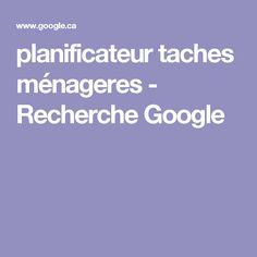 planificateur taches ménageres - Recherche Google