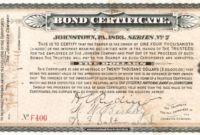 Corporate Bond Certificate Template In 2020 | Certificate Within Quality Corporate Bond Certificate Template Us Bonds, Corporate Bonds, Certificate Templates