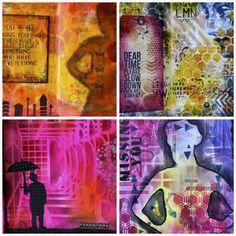 mixed media workshops with Marjie Kemper - Art Is You Mixed Media Art Retreat