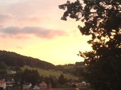 Sunset over Wald-Michelbach, Germany