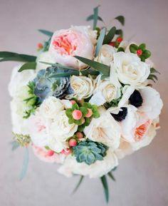 {Floral Friday} Blush Bouquet  photo: Double Knot Pictures