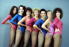 1980's leotards - Google Search 1980s Aerobics, Retro Fitness, One Piece Suit, Nylon Stockings, Girl Next Door, Leotards, Fitness Fashion, Tights, Bodysuit