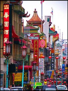 "San Francisco Chinatown ~ ""Established in the 1850s, 