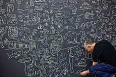 Chalkboard fild with some draws/ideas
