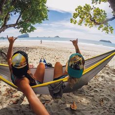 Just chilling on the beach with @natalizollinger on this #TravelTuesday! All we need is a cold drink...Where is your wanderlust taking you? #GoPro #GoProGirl #CostaRica