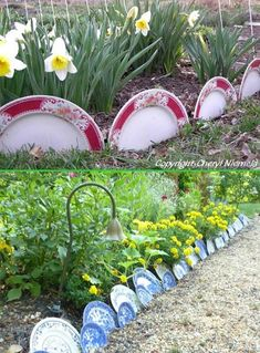 China Plate Dish Garden Edging