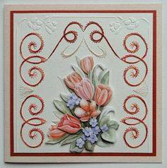 Creaties met Papicolor papier: Bloemenboeket
