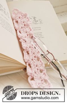 """DROPS Extra 0-936 - Crochet DROPS bookmark in """"Paris"""". - Free pattern by DROPS Design"""