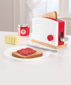 Another great find on #zulily! KidKraft Red & White Toaster Play Set by KidKraft #zulilyfinds